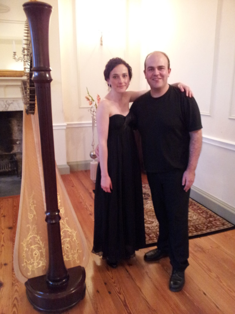 Solo and duet recital with Lee Mottram (clarinet) @ Tregwynt Mansion, Wales // September 2012