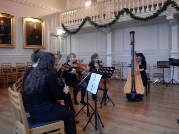 Handel's Harp Concerto with the Newnham Chamber Ensemble // December 2012