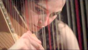 Filming Sally Beamish's 'Awuya' for solo harp // January 2013