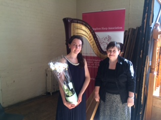 With Sioned Williams after my recital at the UKHA AGM // April 2014