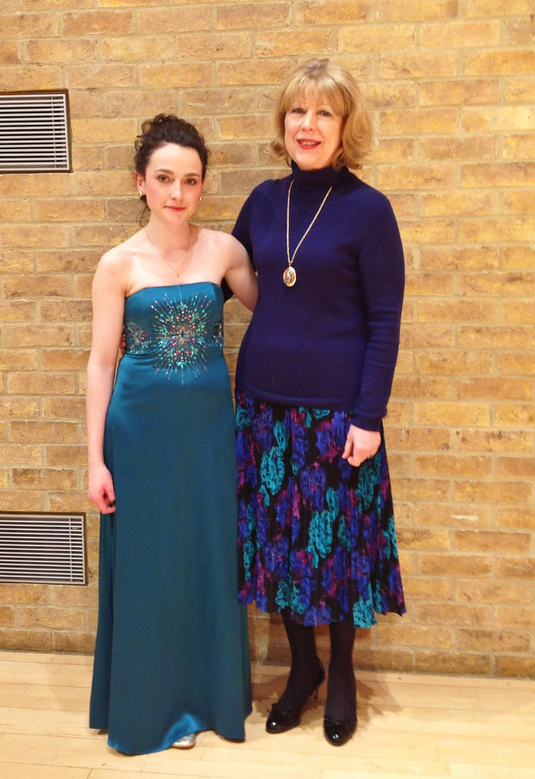 With Karen Vaughan after a performance of Gliere's Harp concerto // March 2013