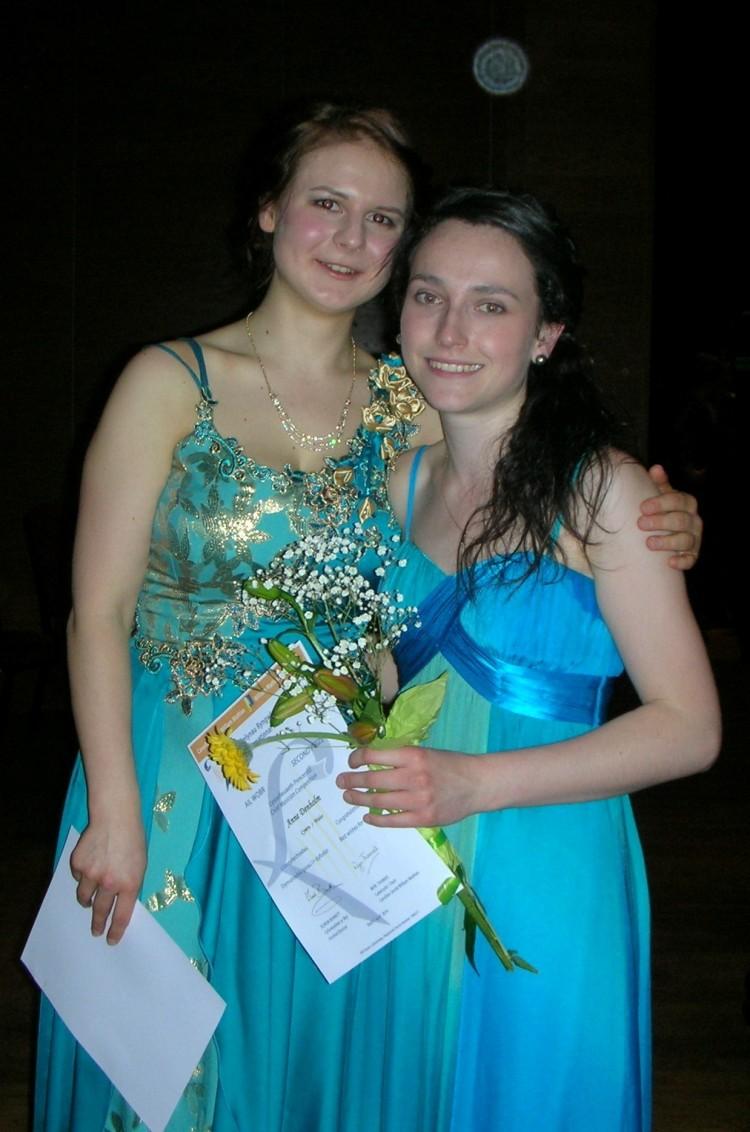 With Valeria Voshchennikova at the Wales International Harp Festival, Caernarfon // April 2014