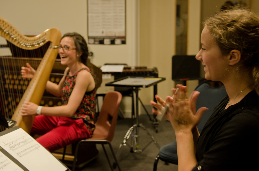 'First run-through fun' at the Sound and Music Summer School // August 2014 // ©Martin Wess