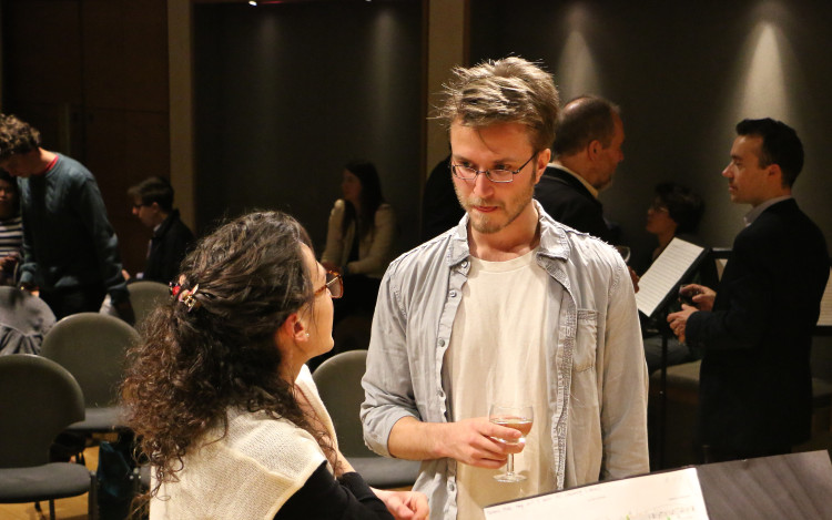 Chatting with composer Alex Brusentsev at Connect. The. Dots // September 2014 // ©Matilda Hay