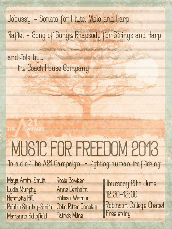 Music for Freedom - Cambridge // June 2013