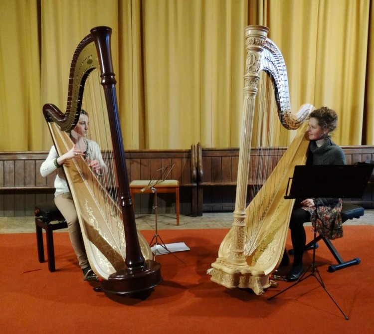 Harp duet with Mary Reid for the Yorke Trust // March 2013