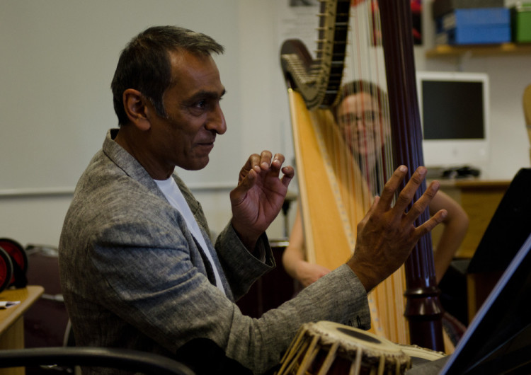 Working with Kuljit Bhamra (tabla) // August 2014 // ©Martin Wess