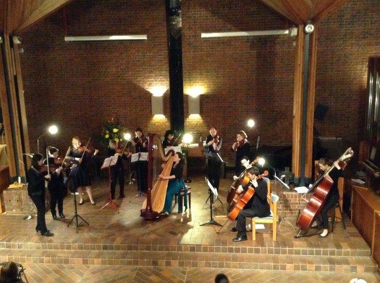 Handel Harp Concerto with the All Saints' String Ensemble, Isleworth // February 2015