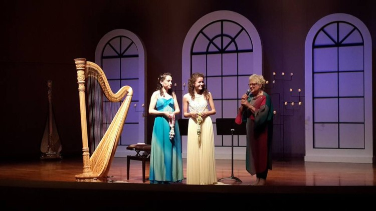 With Claudia Lamanna and Elinor Bennett after a recital at the 3rd Thailand International Harp Festival and Competition // Bangkok // August 2016